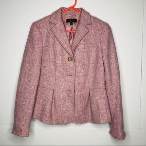 Talbots   100% wool heathered pink blazer size 6
